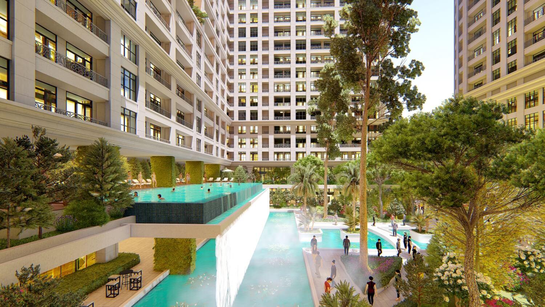 Bể bơi thác tràn Sunshine Garden